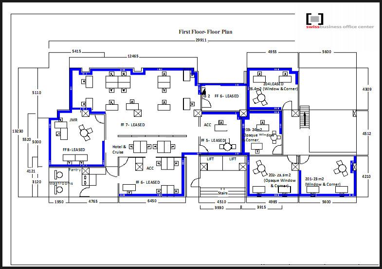 first floor plan business office floor